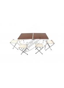 Sulankstomas stalas su kėdėmis