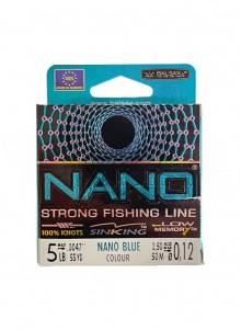 Valas pavadėliams Nano Blue 0,10-0,18mm 50M
