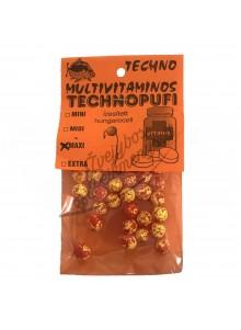 Putplasčio rutuliukai Technopufi - Multivitaminas