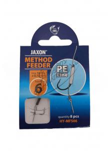 Kabliukai žvejybai Jaxon Method Feeder su pintu valu